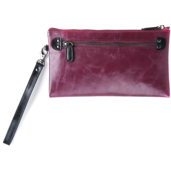 Shiraleah Handbags: Harper zip pouch wristlet - Berry