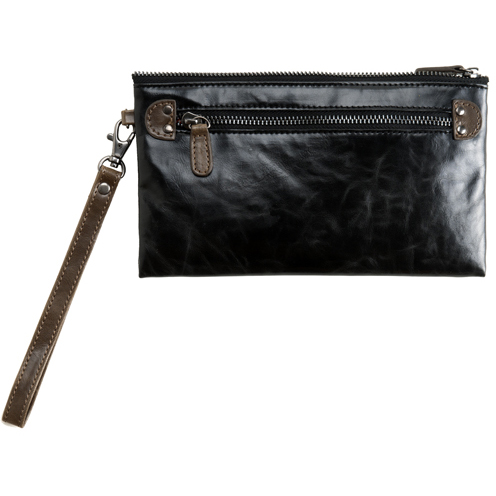 Shiraleah Handbags: Harper zip pouch wristlet - Black