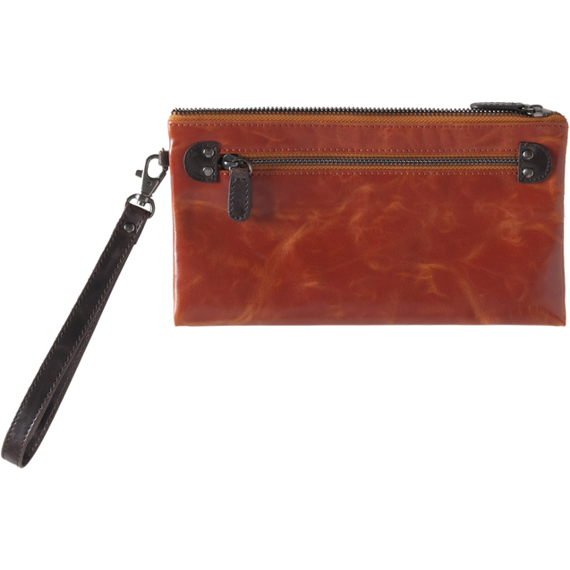 Shiraleah Handbags: Harper zip pouch wristlet - Orange