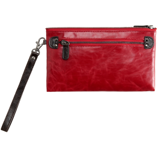 Shiraleah Handbags: Harper zip pouch wristlet - Pomegranate