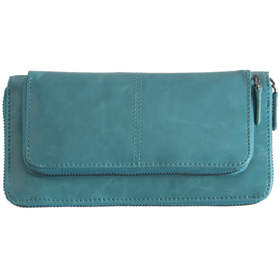 Shiraleah Handbags: Harper zip wallet - Aqua