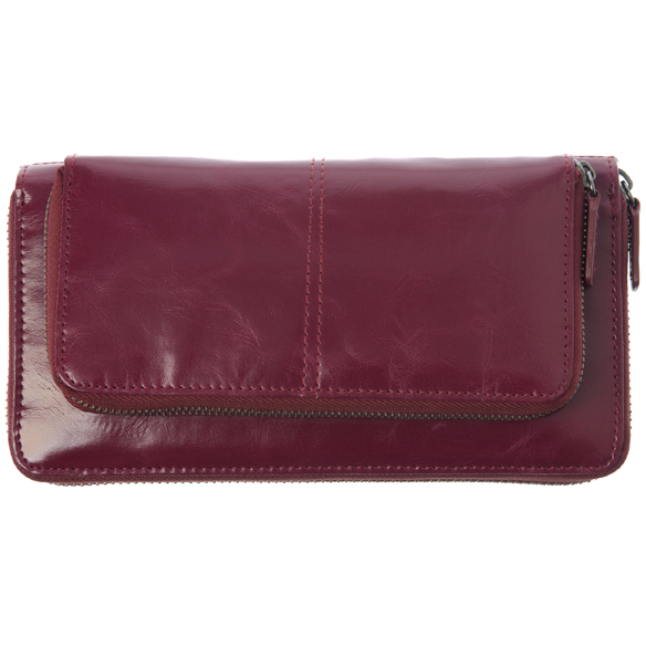 Shiraleah Handbags: Harper zip wallet - Berry