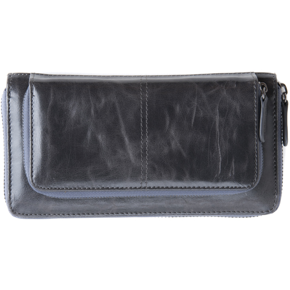 Shiraleah Handbags: Harper zip wallet - Graphite