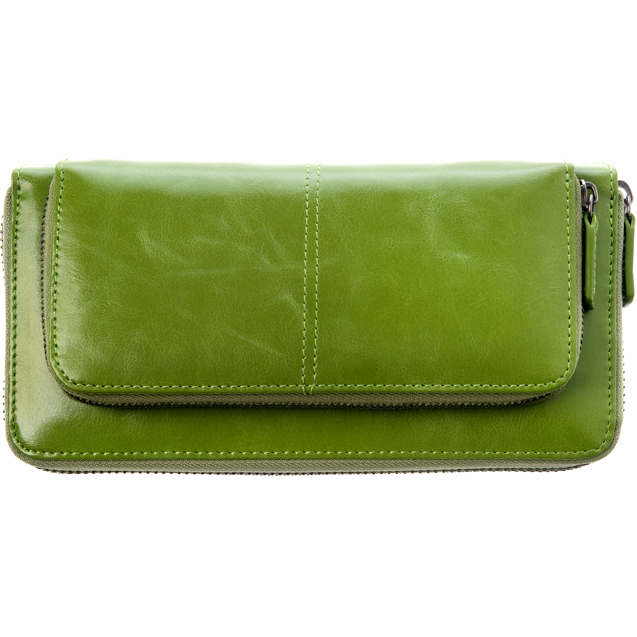 Shiraleah Handbags: Harper zip wallet - Leaf