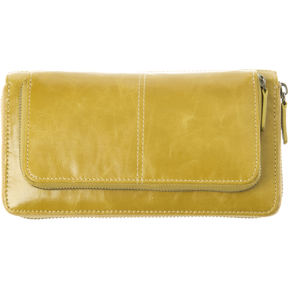 Shiraleah Handbags: Harper zip wallet - Mustard