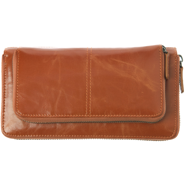 Shiraleah Handbags: Harper zip wallet - Orange