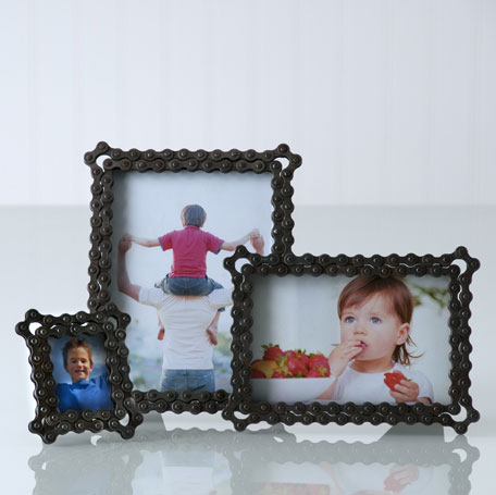 Bicycle Chain Picture Frames