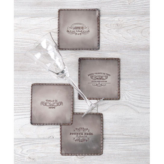 Shiraleah Home Accessories: s/ 4 assorted coasters