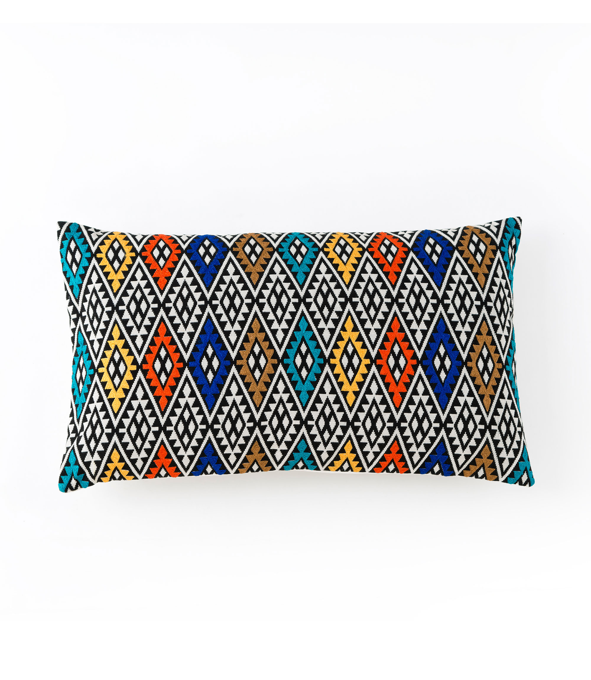 aztec embroidered rectangle pillow