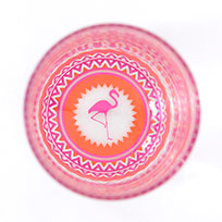flamingo high-ball glass