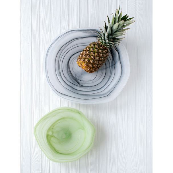 Shiraleah Home Accessories: frosted alabaster freeform shallow serving bowl