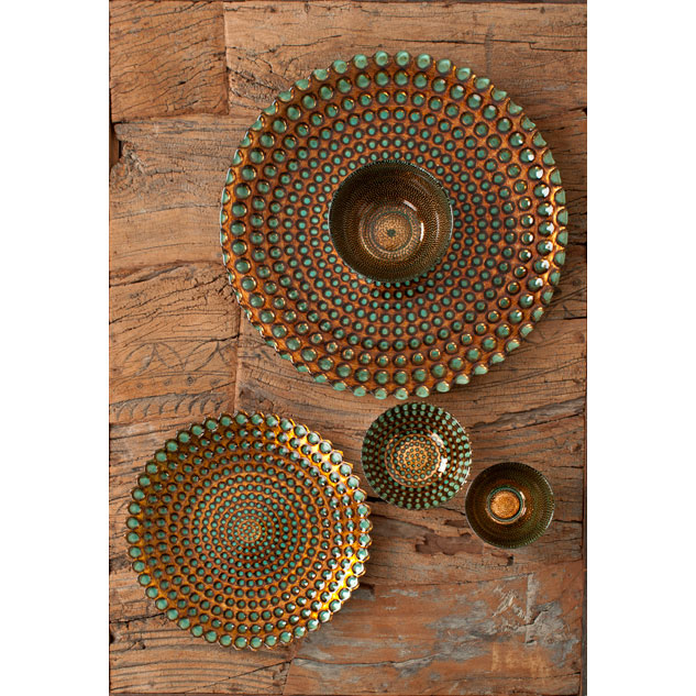 Shiraleah Home Accessories: babylon and pearl bowls, plates and platters - antique copper