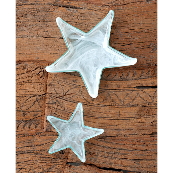 Shiraleah Home Accessories: alabaster starfish plates - glacier
