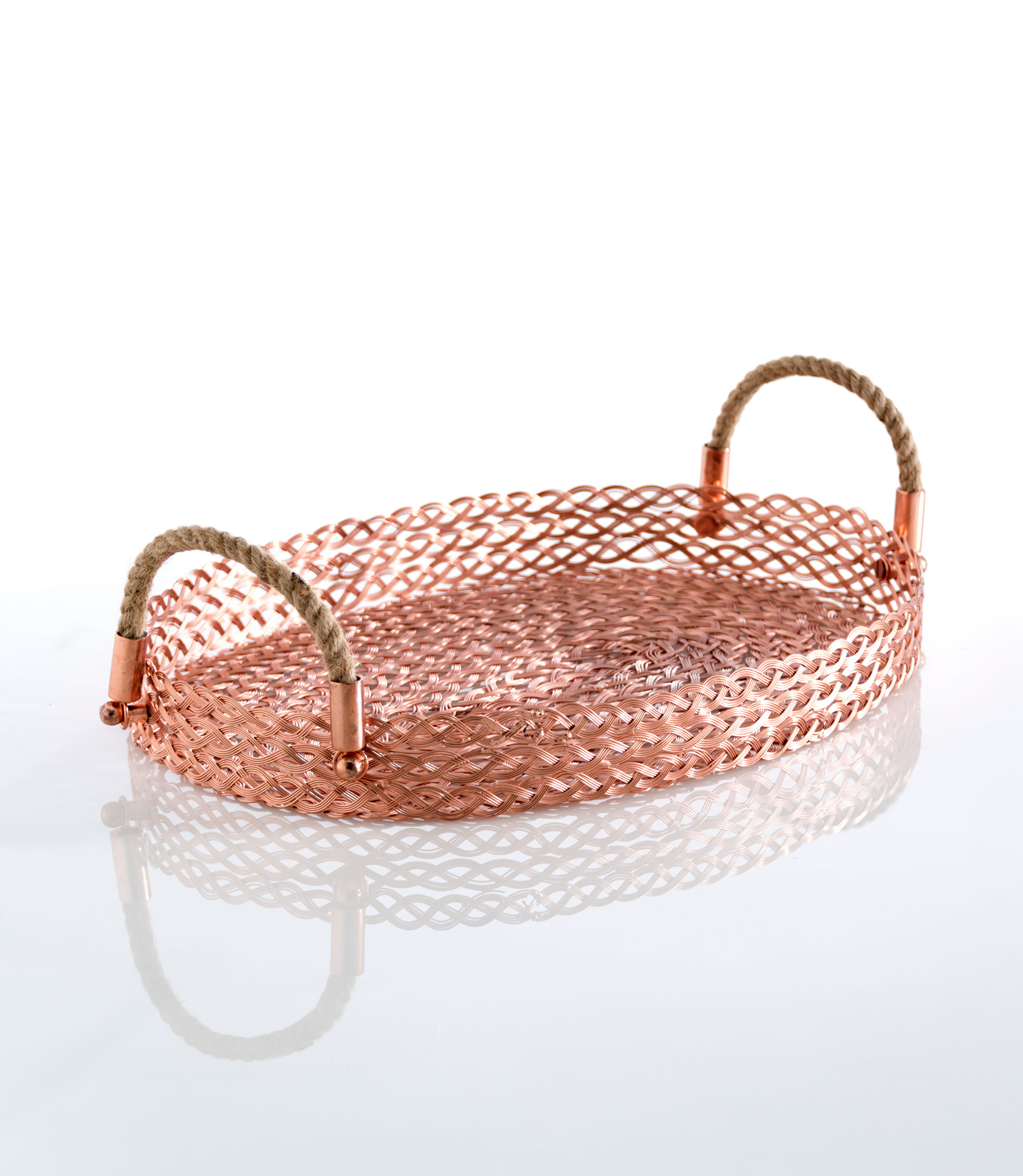 braid oval tray