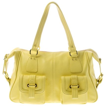 Shiraleah Verena large satchel - Butter