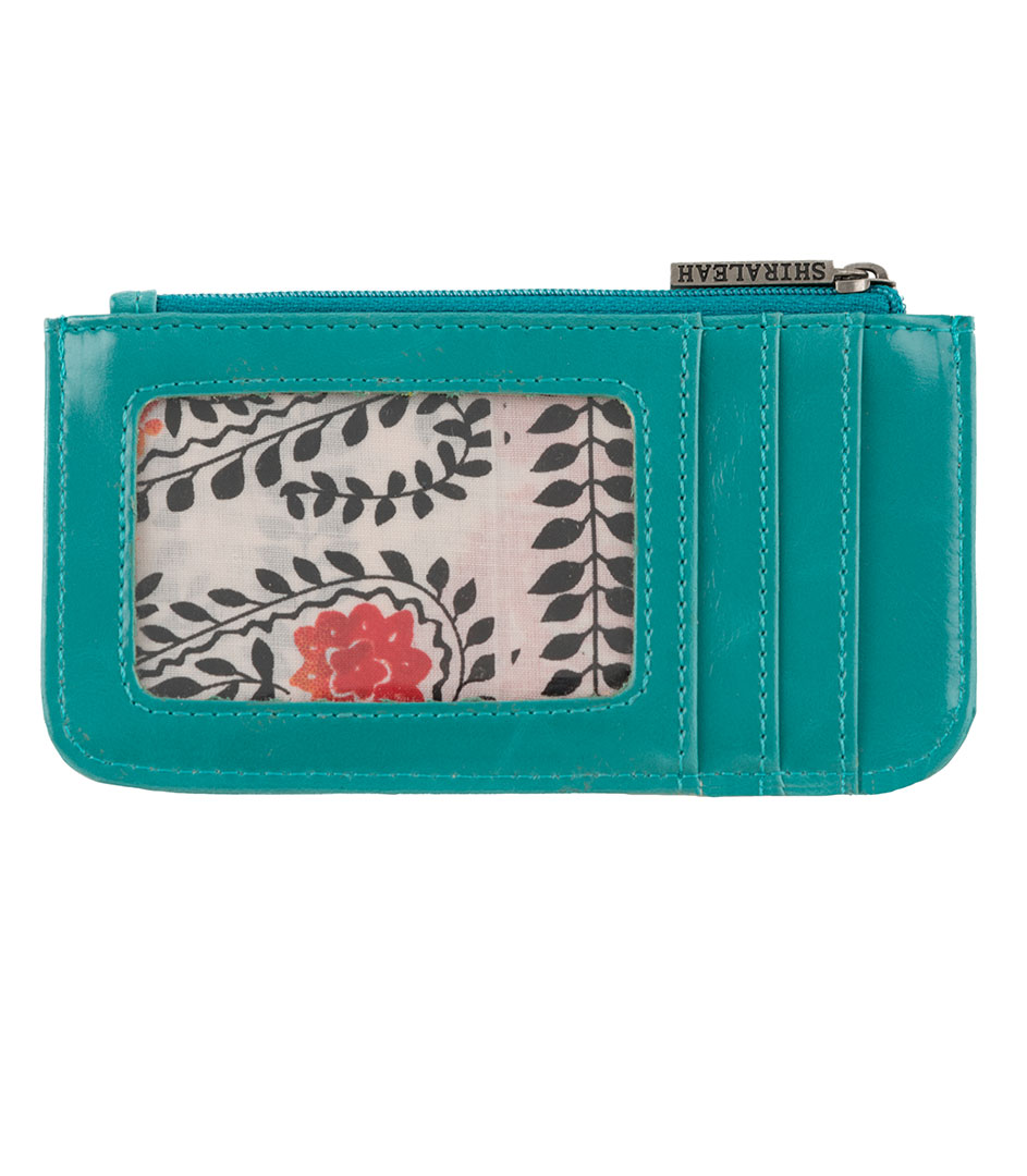 Shiraleah Handbags: Harper card case - Aqua