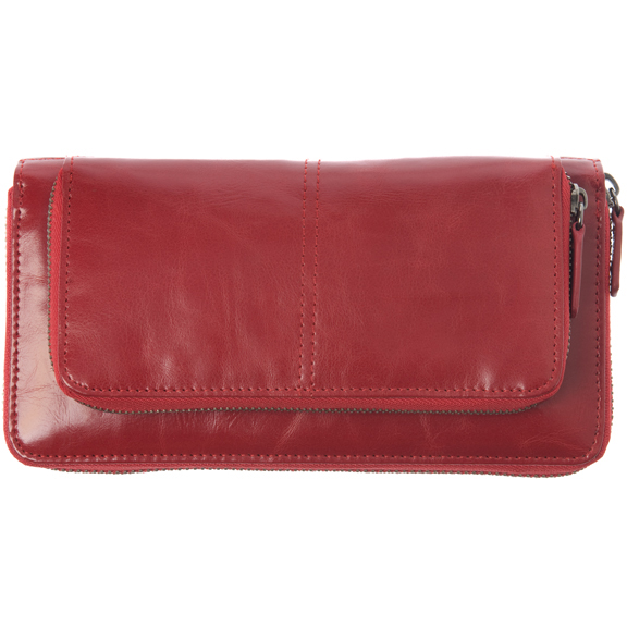 Shiraleah Handbags: Harper zip wallet - Pomegranate