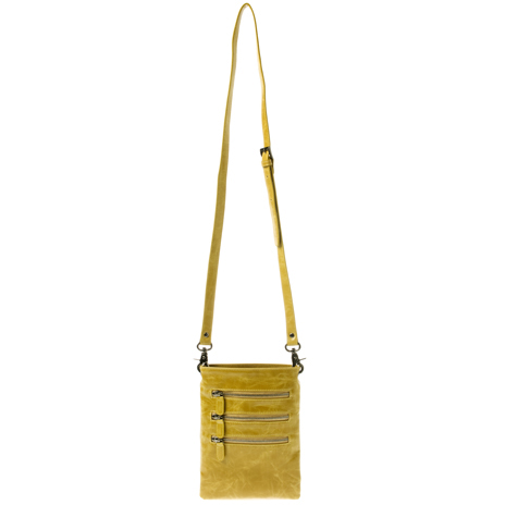 Shiraleah Handbags: Harper cross body pouch - Mustard