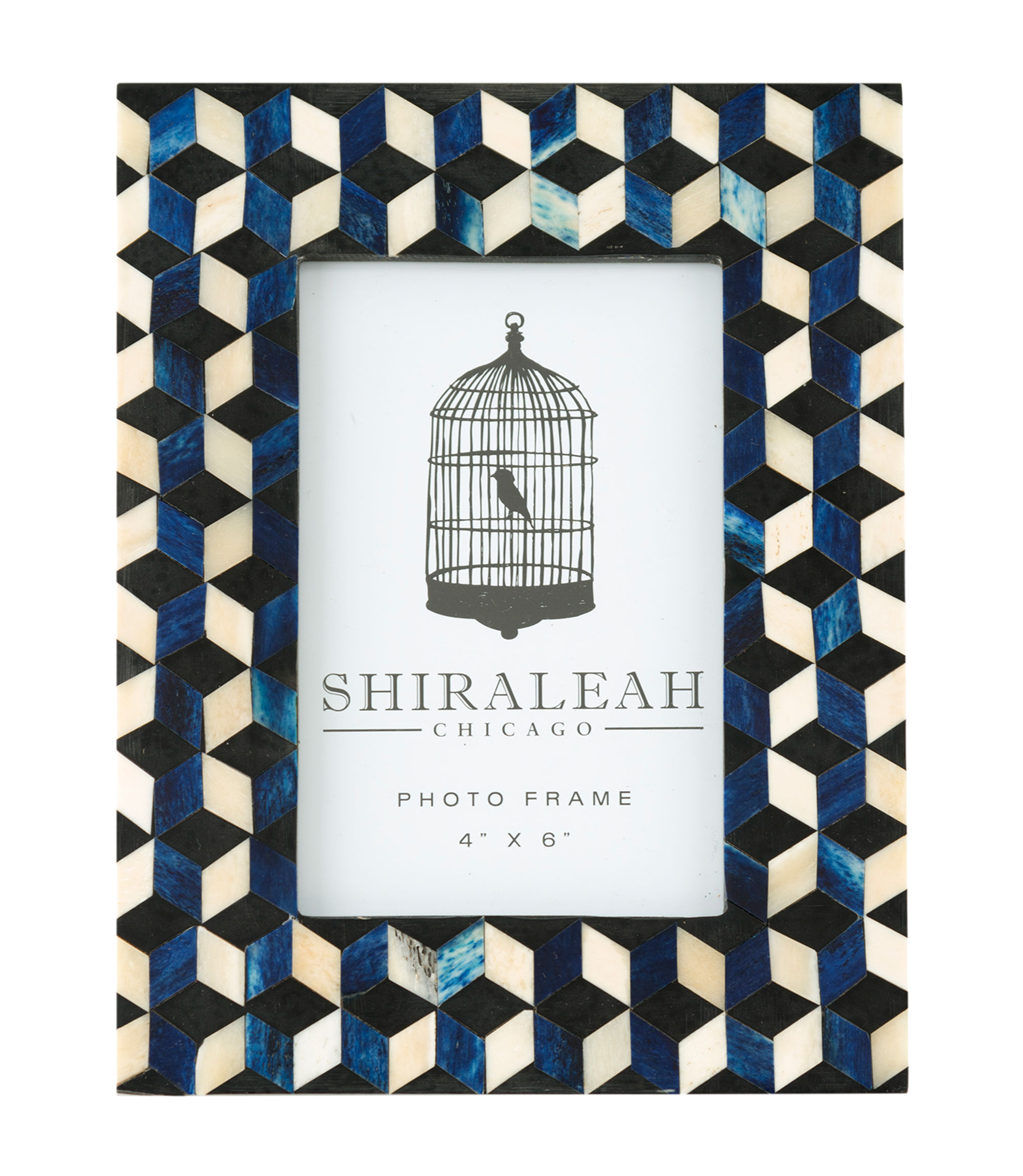"loft 4"" x 6"" cube inlay picture frame"
