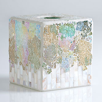 fes crushed mosaic tissue box holder