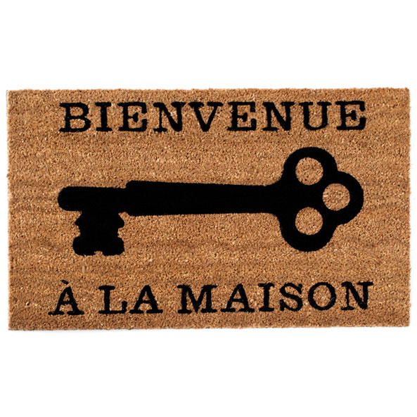 Shiraleah Home Accessories:  bienvenue door mat