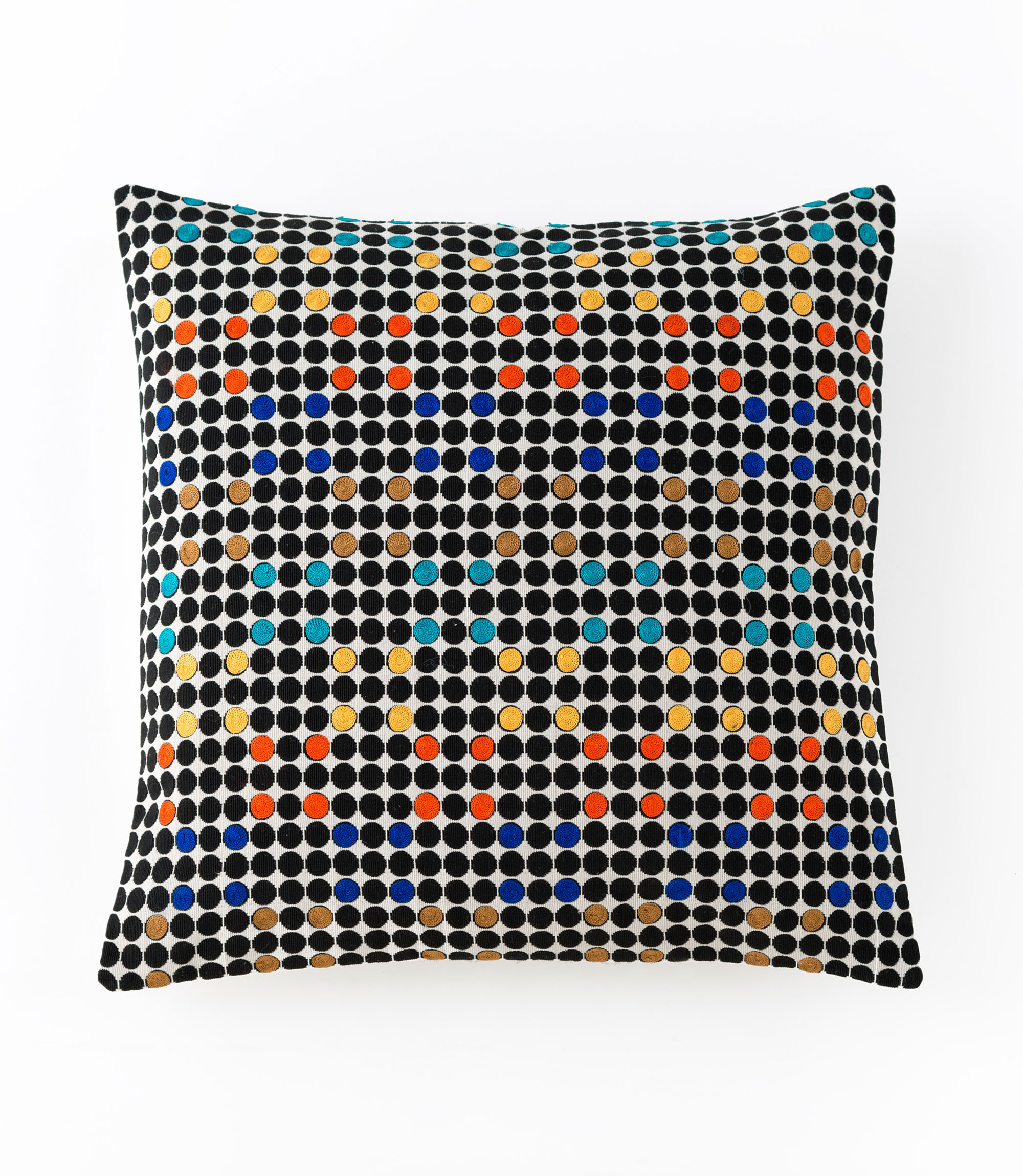 aztec embroidered square pillow