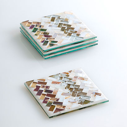 set of 4 ansar mosaic coasters