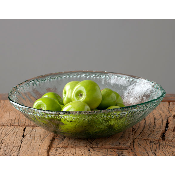 Shiraleah Home Accessories: rustic round serving bowl - clear