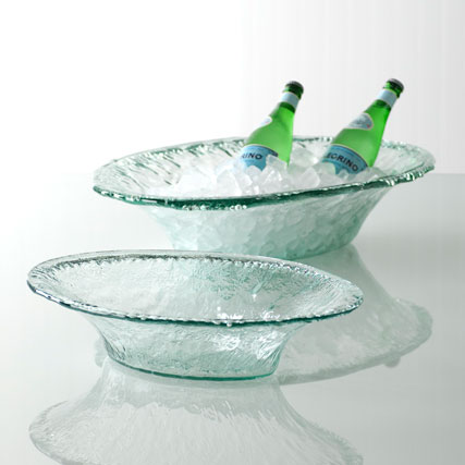 Shiraleah Home Accessories: rustic party bowl - clear